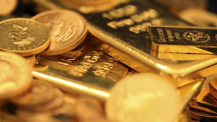 Precio del oro empieza a formar suelo en la zona de 1.885 $ tras el regreso de los compradores