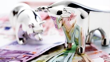 euro cuña descendente