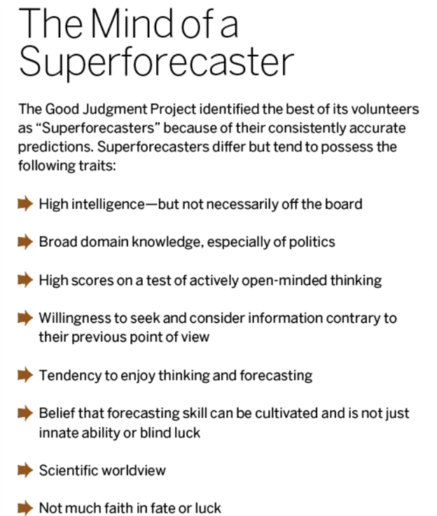 The Superforecasters