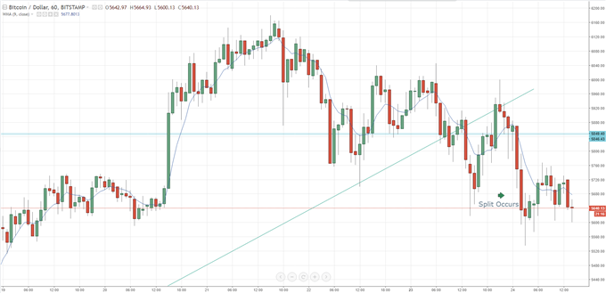 Bitcoin Splits; Gold (BTG) Price Hit by Sellers, Website Hit by DDoS Attack