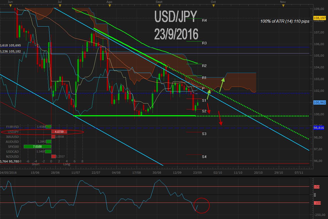 USD / JPY corrige y encuentra freno en 101.00  ¿IPC de Japón como driver de breakout?