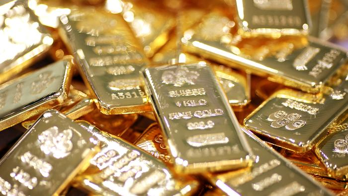 El precio del oro cede posiciones, pero mantiene la distancia con el soporte de los 1850