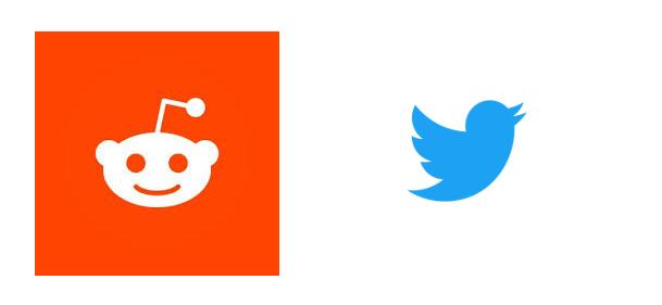 reddit, logotipos de twitter