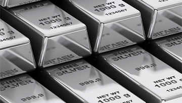 El precio de la plata opera dentro de un triángulo simétrico.