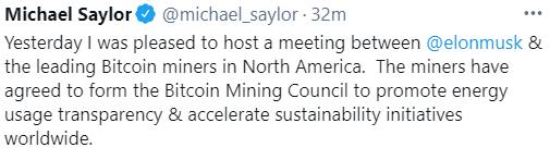 Bitcoin Price Jumps as Elon Musk Tweets Progress Toward Renewable Mining