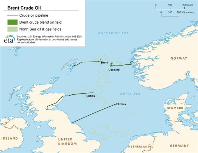 Production pétrole Brent Mer du Nord