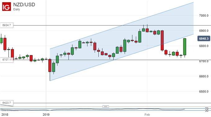 Strong Bounce. New Zealand Dollar Vs US Dollar, Daily Chart