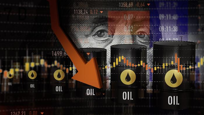 Crude Oil Prices Spike Lower as Volatility Fuels Risk Aversion