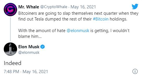 BTC/USD Bounces Back as Elon Musk Denies Tesla Sold Bitcoin Holdings