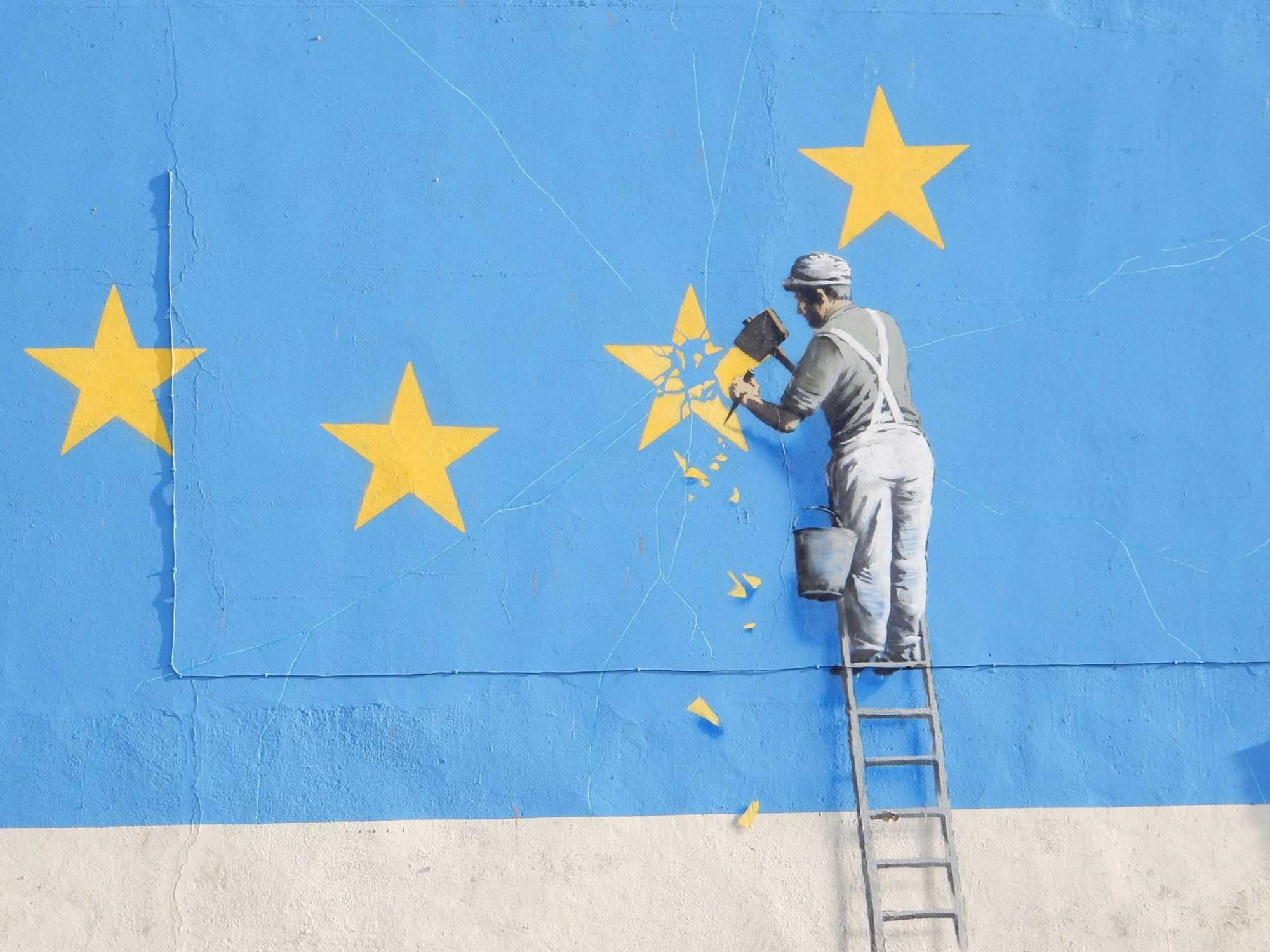 EU wall graphic