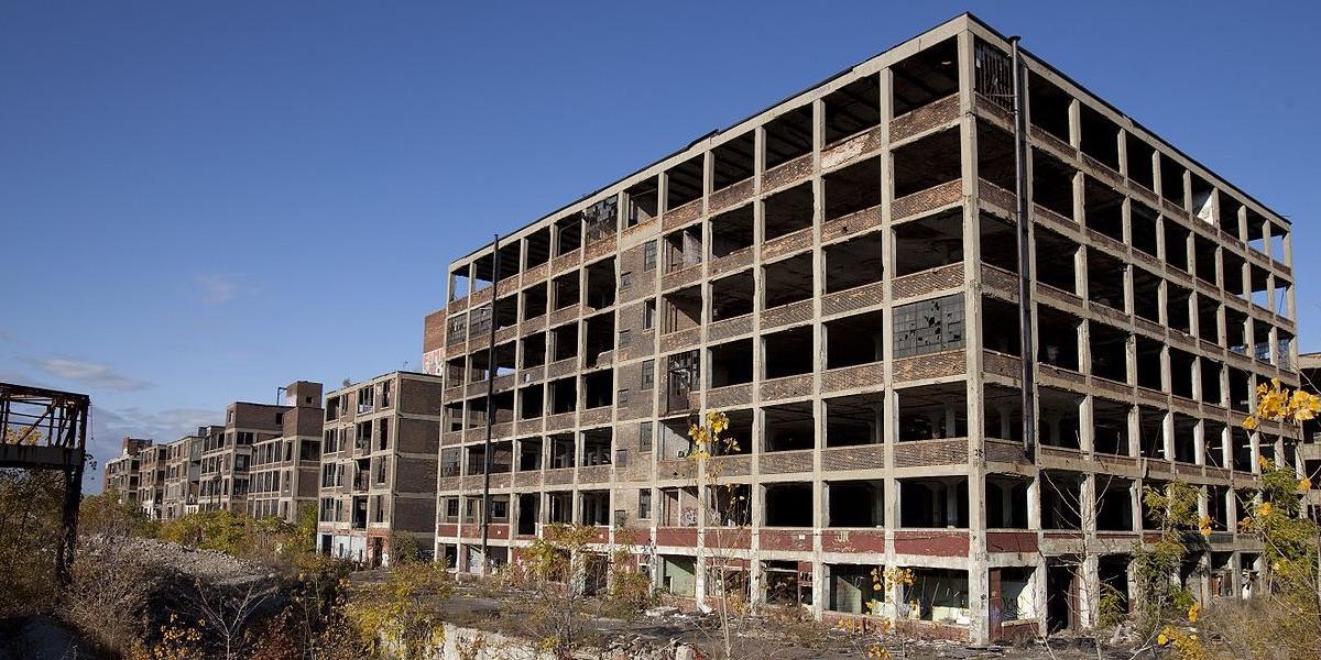 Detroit, Michigan, verlassene Packard Autofabrik