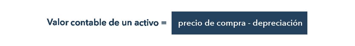 Cálculo del valor contable de un activo