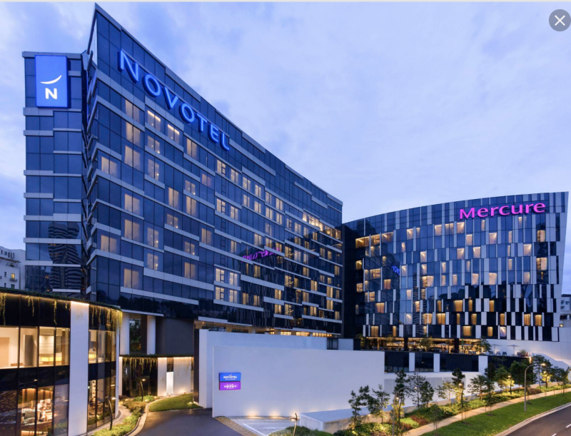 Mercure and Novotel hotels on Stevens Road, Singapore
