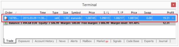 Monitor your positions in MetaTrader 4