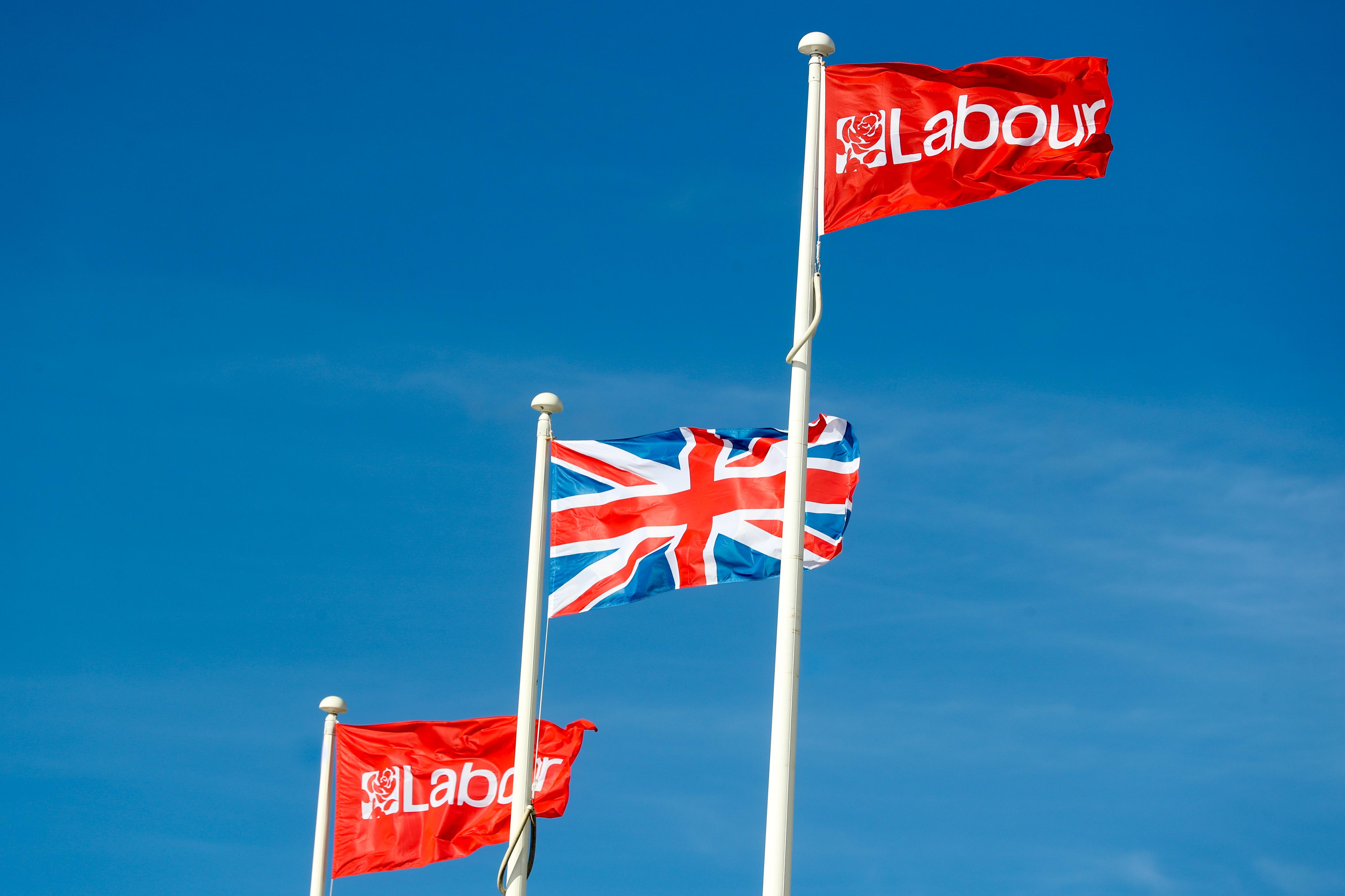 Labour Party and Union Jack Flag