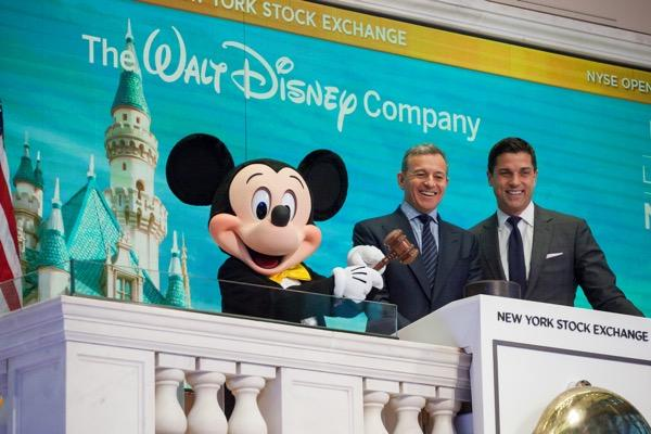 Mickey Mouse and Bob Iger before Disney's Q2 earnings