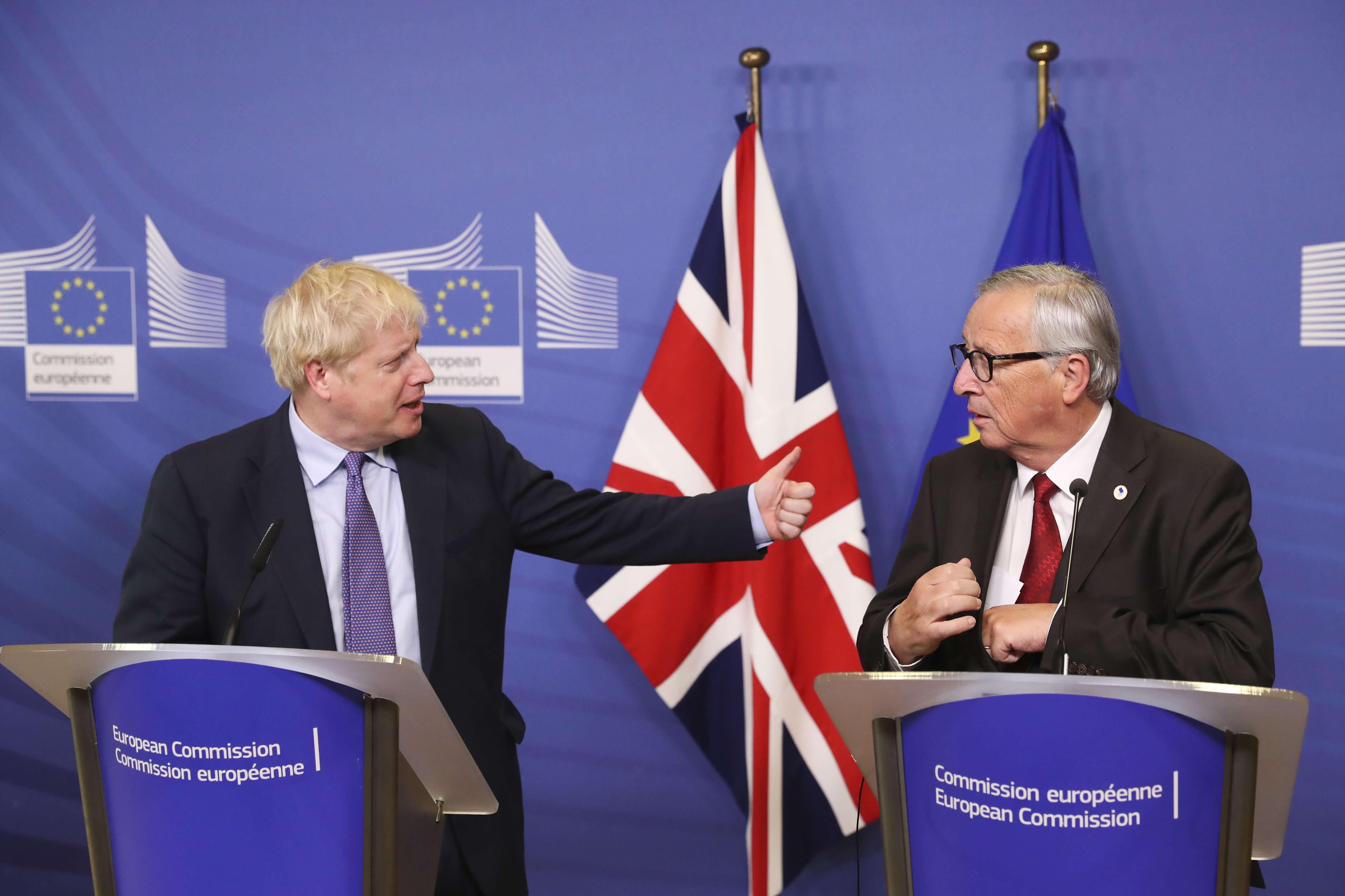 Boris Johnson alla commissione europea