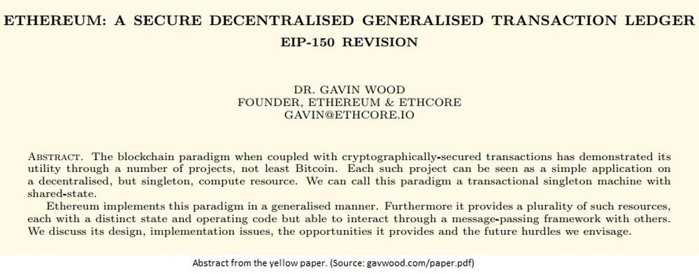 Ethereum yellow paper