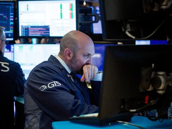 Trader in a New York Stock Exchange
