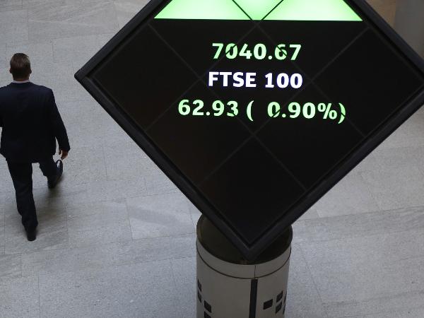 FTSE 100 sees early gains eroded amid coronavirus panic