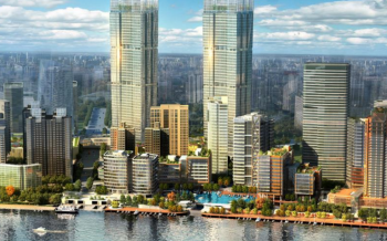 Artist impression of the Twin Towers in Shanghai